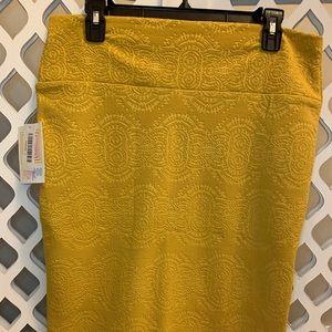 LuLaRoe Cassie Pencil Skirt in Mustard
